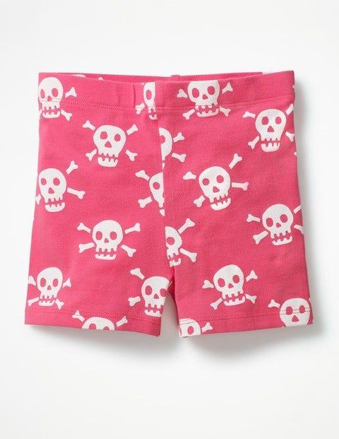 Jersey Shorts Strawberry Split Pink Skulls Girls Boden