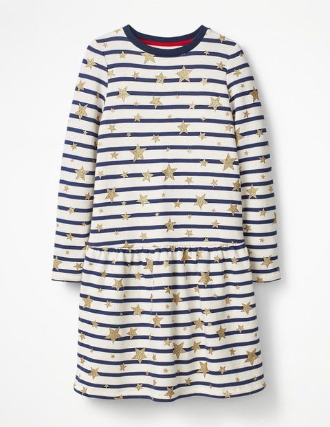 Sweatshirt Dress Navy Girls Boden, Navy
