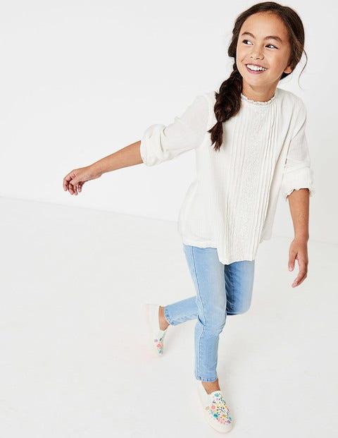 Pretty Lace Woven Top - Ecru