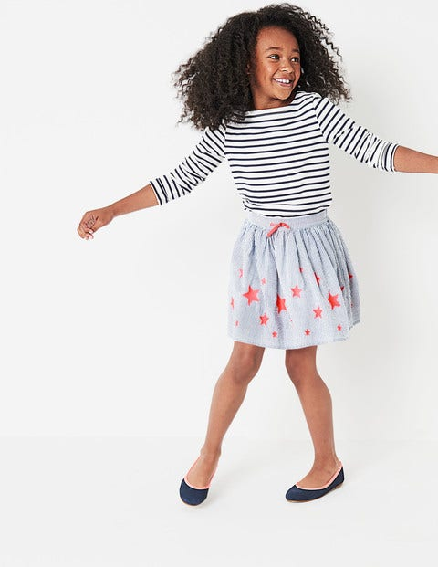 Stripy Skirt - Orion Blue Stripes