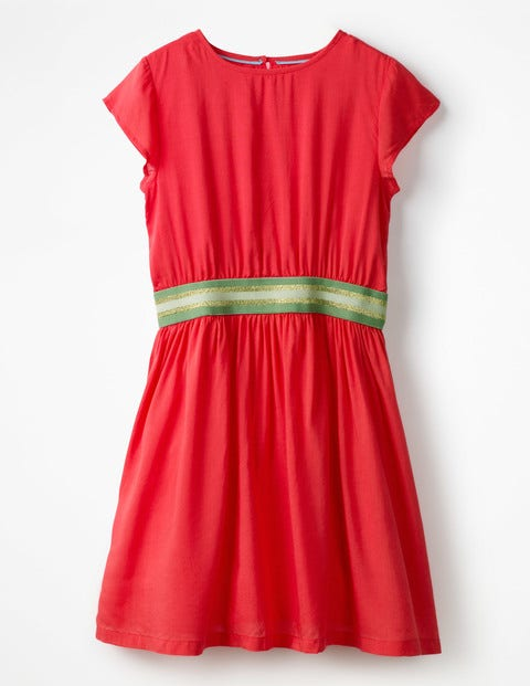 Sporty Woven Dress Circus Red Girls Boden