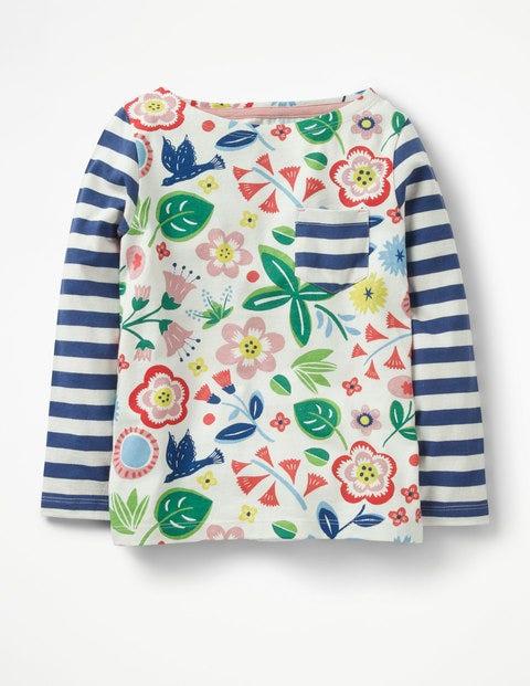 Hotchpotch Pocket T-Shirt - Multi Floating Flower