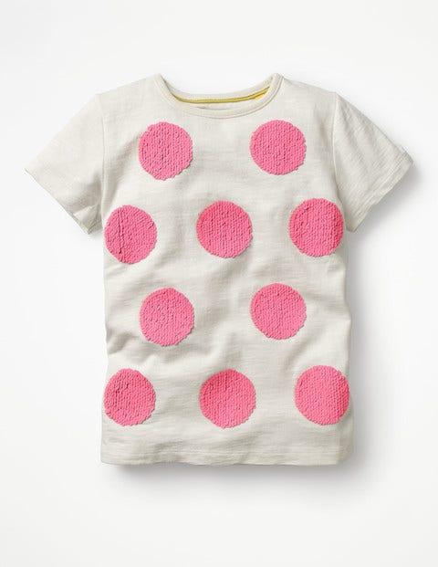 Spot Colour-change T-shirt Ivory Girls Boden