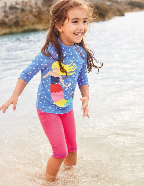 Sea Explorer Surf Suit - Oasis Blue/Ivory Spots Mermaid