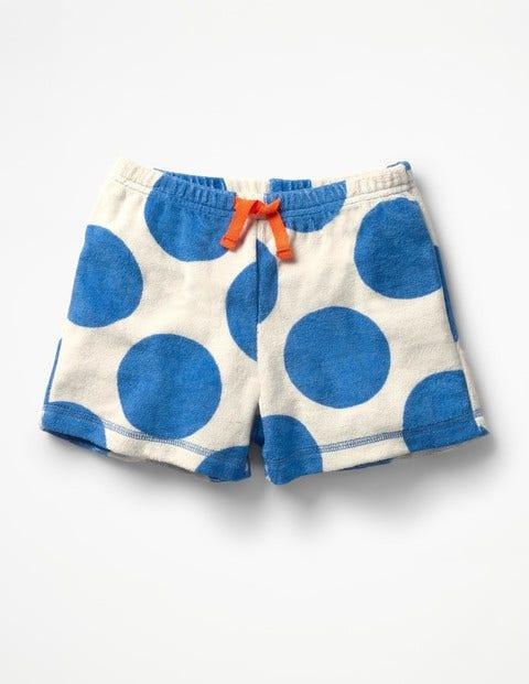 Adventure Towelling Shorts - Ivory/Skipper Blue Jumbo Spot