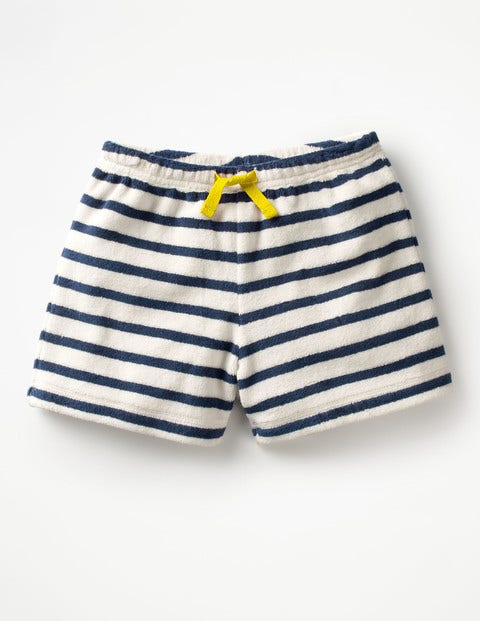 Adventure Towelling Shorts - Ivory/School Navy