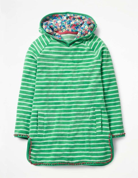 Stripy Towelling Dress - Peppermint Cream/Ivory