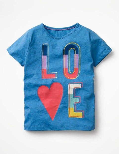 Printed T-Shirt - Penzance Blue/Love