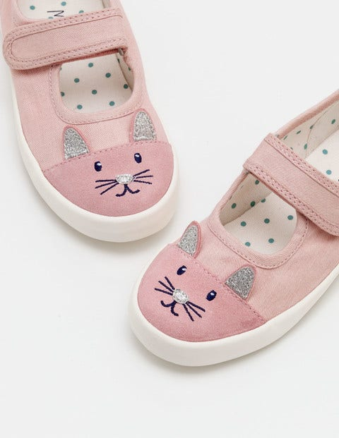 Canvas Mary Janes - Vintage Pink