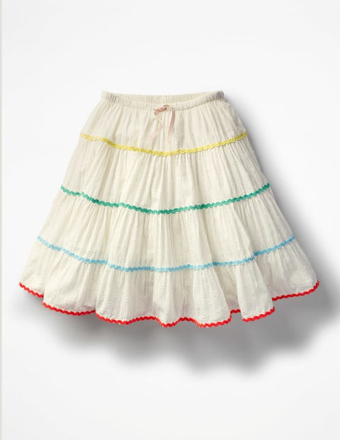Kids 1950s Clothing & Costumes: Girls, Boys, Toddlers Twirly Skirt Ivory Girls Boden Ivory £26.00 AT vintagedancer.com