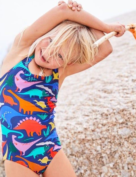 Cross-Back Swimsuit - Blue Do-You-Think-She-Saurus