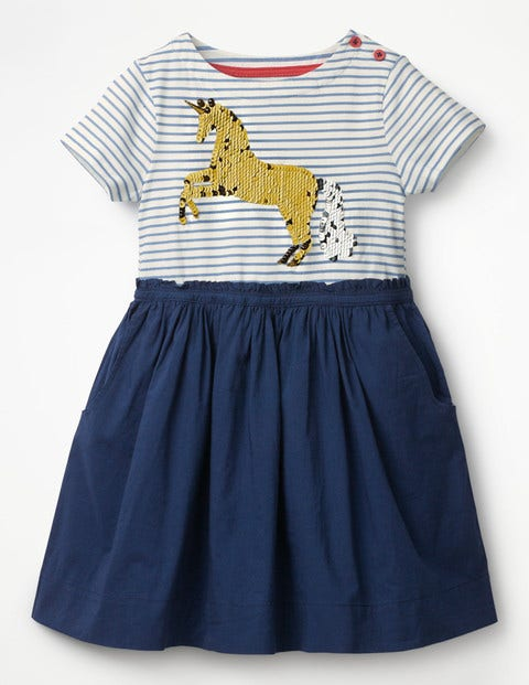 Sequin Colour-Change Dress - Starboard Blue Unicorn