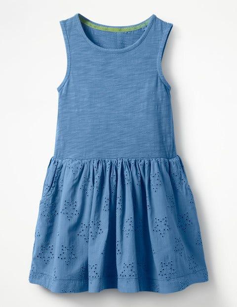 Jersey Woven Dress - Penzance Blue
