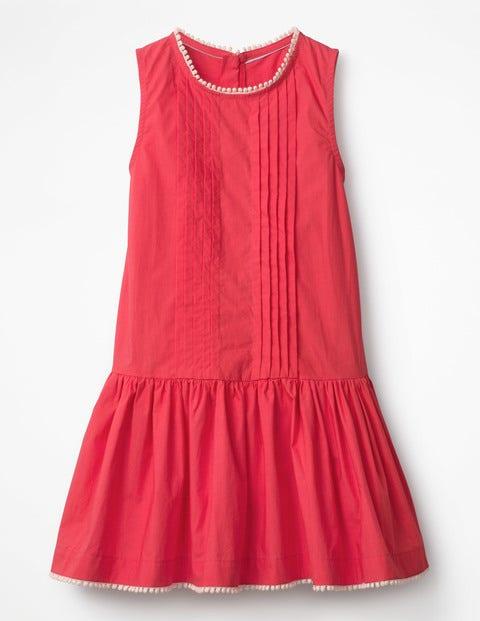Vintage Style Children's Clothing: Girls, Boys, Baby, Toddler Drop-waist Woven Dress Pink Girls Boden Pink £37.00 AT vintagedancer.com