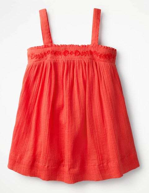 Floaty Strappy Top Red Girls Boden, Orange