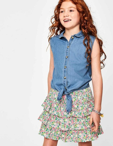 Tie-Front Top - Chambray