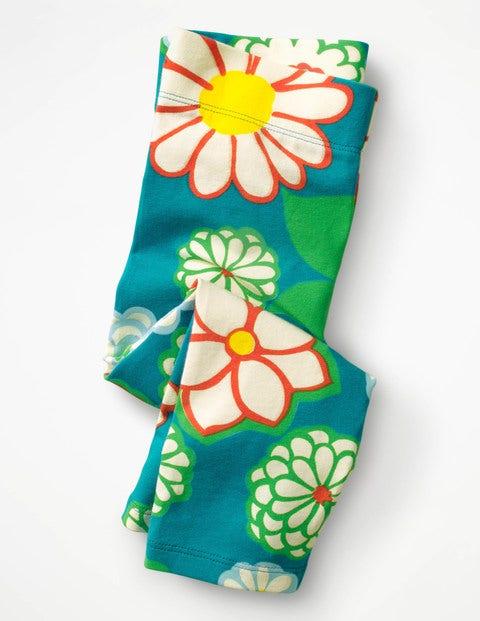 Cropped Leggings - Ultramarine Green Daisy