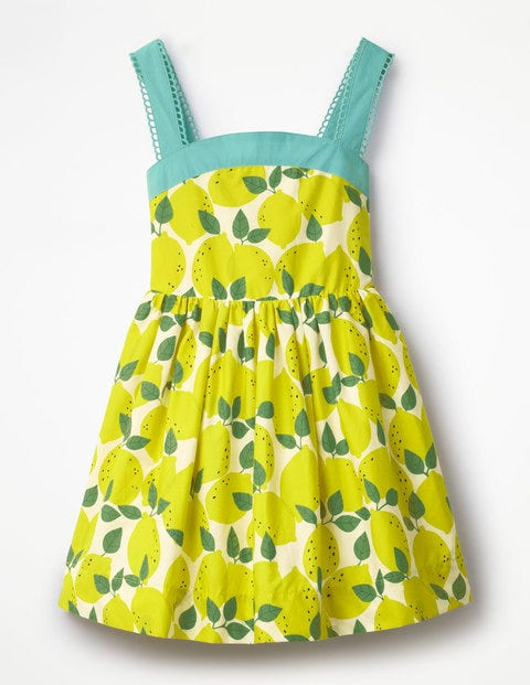 Kids 1950s Clothing & Costumes: Girls, Boys, Toddlers Fifties Sundress Ivory Girls Boden Ivory £30.00 AT vintagedancer.com