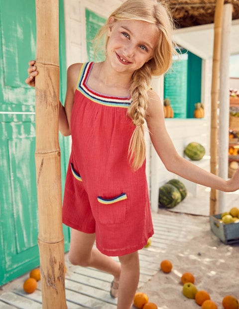 13758ec309a Crochet Crinkle Playsuit G0492 Playsuits and Dungarees at Boden