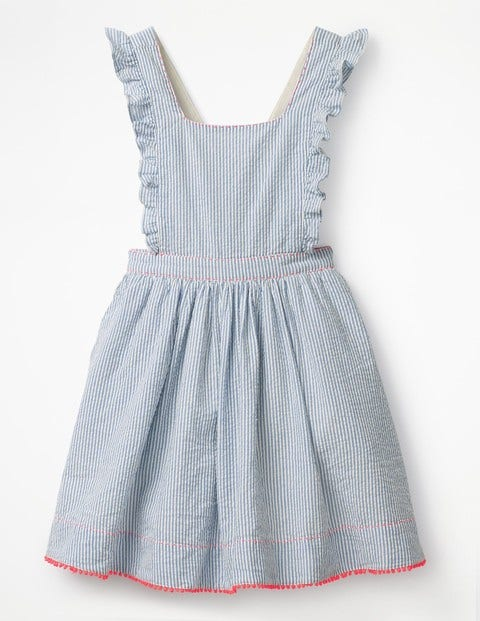 1940s Children's Clothing: Girls, Boys, Baby, Toddler Frilly Cross-back Dress Blue Girls Boden Blue £32.00 AT vintagedancer.com