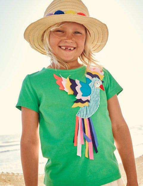 Tropical Animal T-Shirt - Peppermint Green Parrot