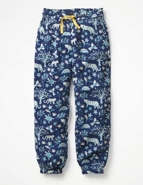 Relaxed Woven Pants - Starboard Blue Island Batik