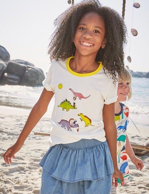 Fun Detail T-Shirt - Ivory/Dinosaurs