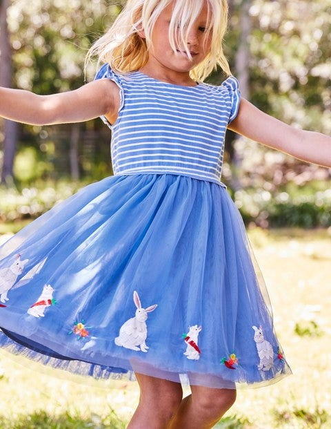 Sparkly Easter Dress - Penzance Blue