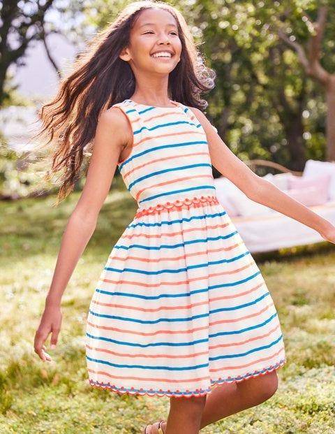 Stripy Organza Dress - Paradise Pink/Blue Stripe