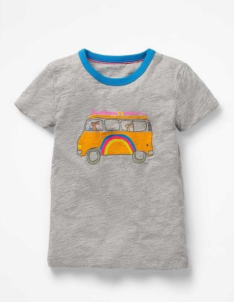 Cooles Sommerliches T-Shirt - Grau Meliert