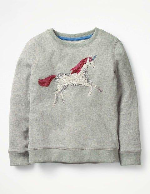 Unicorn Sweatshirt - Grey Marl