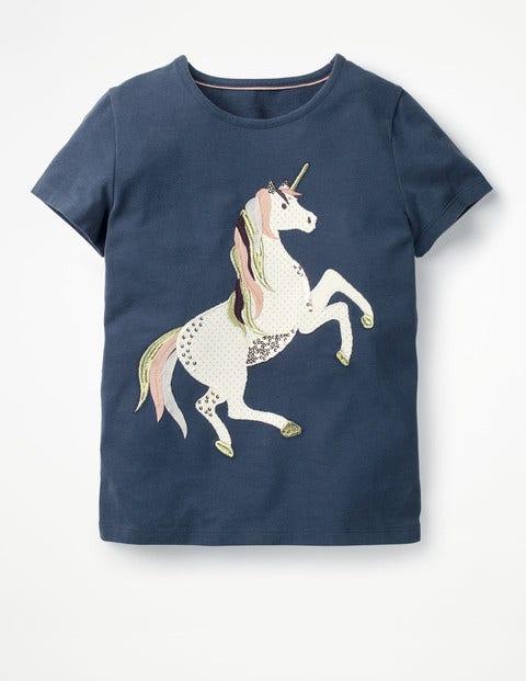 Unicorn Sequin T-Shirt - Starboard Blue Unicorn