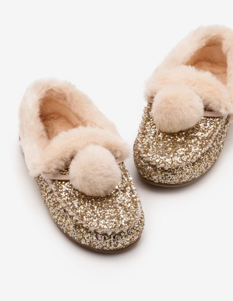 Glitter Slippers - Silver/Gold