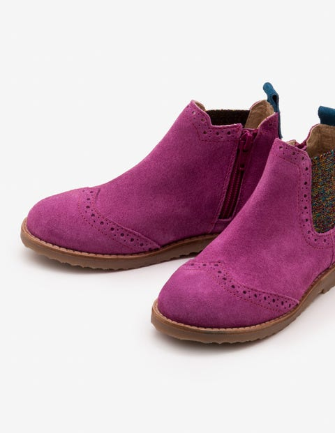 Leather Chelsea Boots - Regal Purple