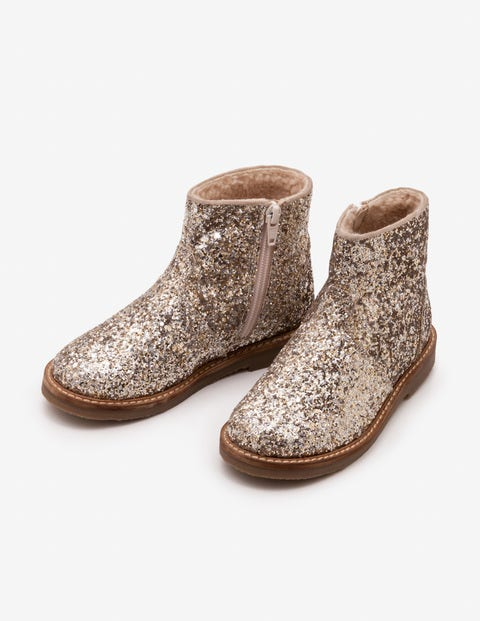Glitter Boots - Silver/Gold