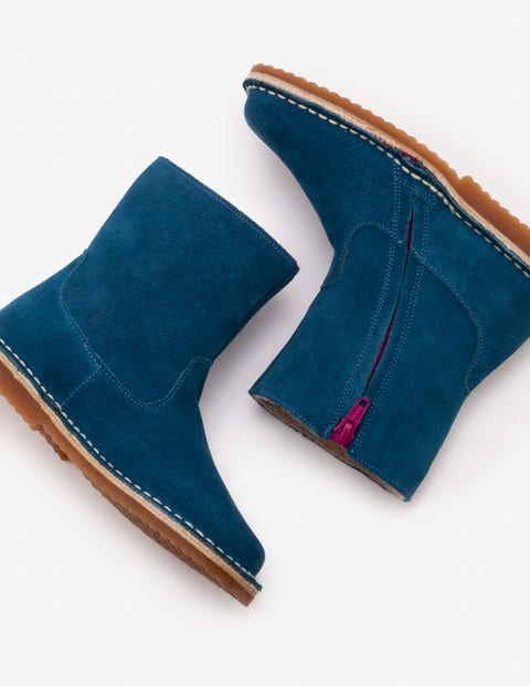 Short Leather Boots - Drummer Blue