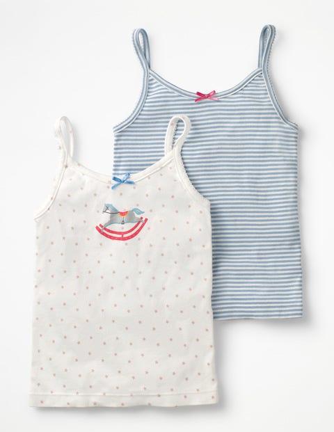 Boden Unterhemden im 2er-Pack Multi Mädchen Boden blau,bunt,mehrfarbig |