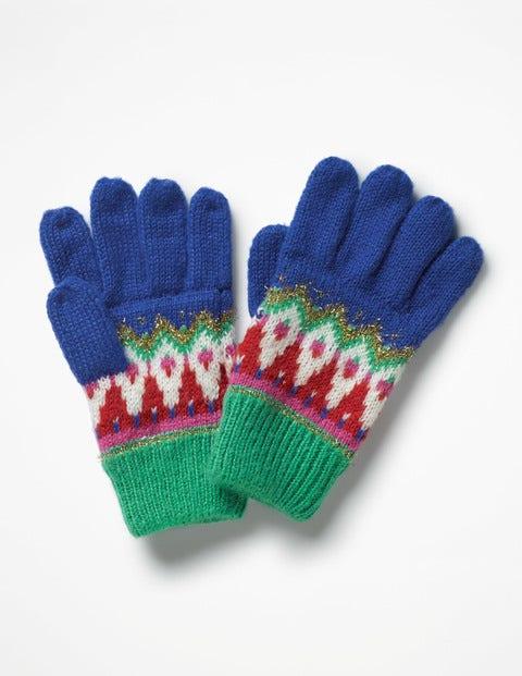 Fair Isle Gloves - Cobalt Blue
