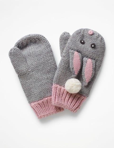 Bunny Mittens - Grey Marl