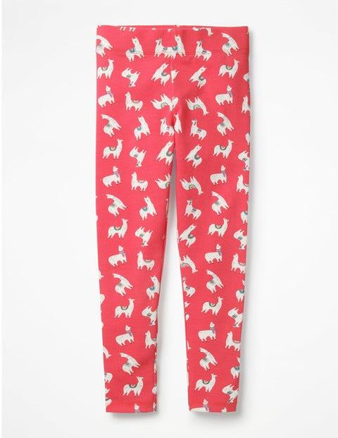 Fun Leggings - Pink Berry Llamas