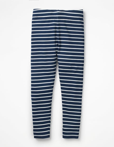 Fun Leggings - School Navy/Ecru