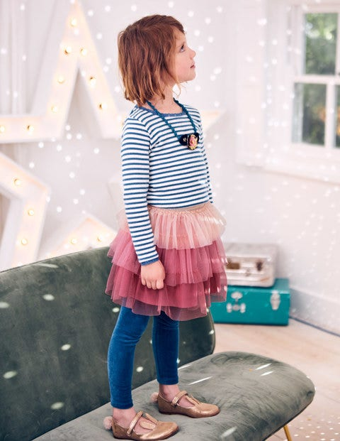 Tiered Tulle Skirt - Rose Pink