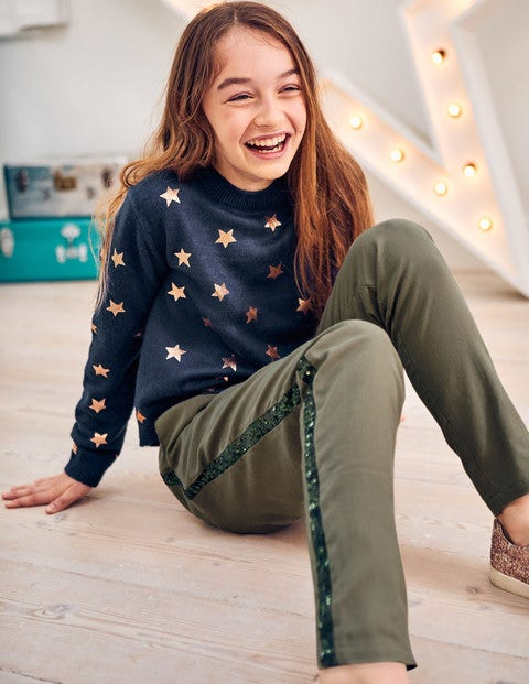 Foil Star Jumper - Navy Rose Gold Stars