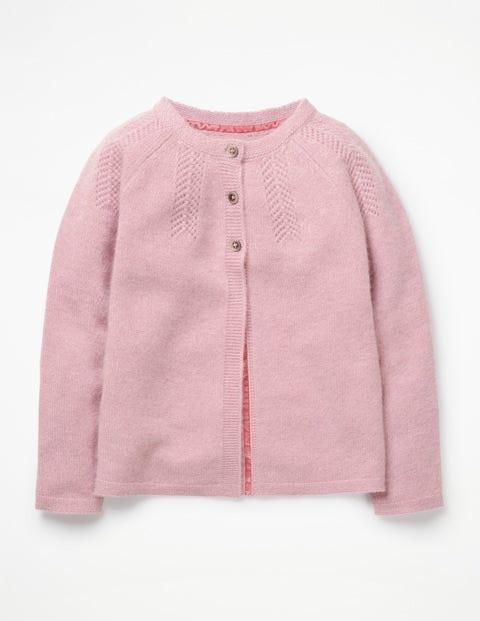 Cashmere Cardigan - Rosebud Pink Marl