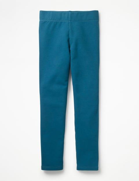 Plain Cosy Leggings - Elizabethan Blue
