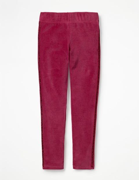 Embellished Velvet Leggings