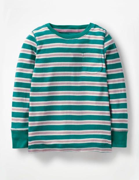 Everyday Stripe T-Shirt - Drake Green/Pink