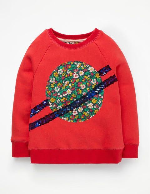 Fun Novelty Sweatshirt - Poppy Red Planet