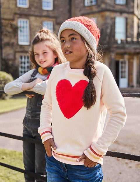 Fluffy Graphic Sweatshirt - Tutu Pink Heart