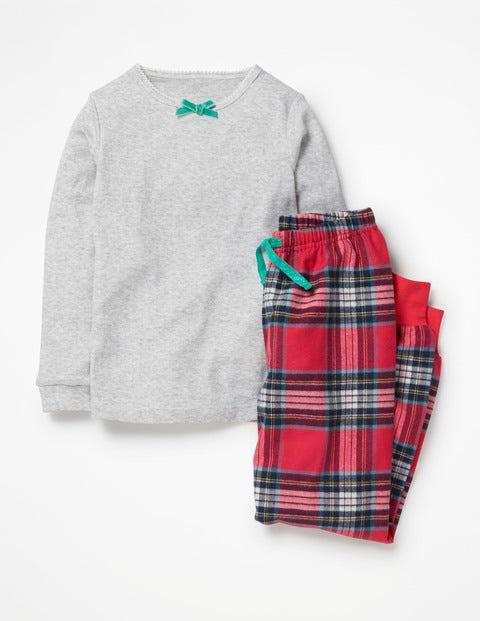 Woven Pyjama Set - Poppy Red/Blue Check